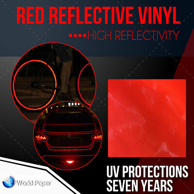 Red Reflective Vinyl Adhesive Cutter Sign Hight Reflectivity 24 X 10 Ft