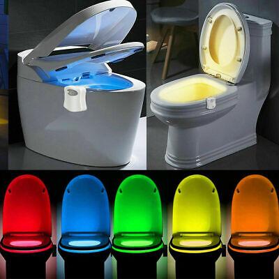 8 Colors Human Motion Sensor Automatic Seats LED Light Toilet Bowl Bathroom Lamp Human Sensor