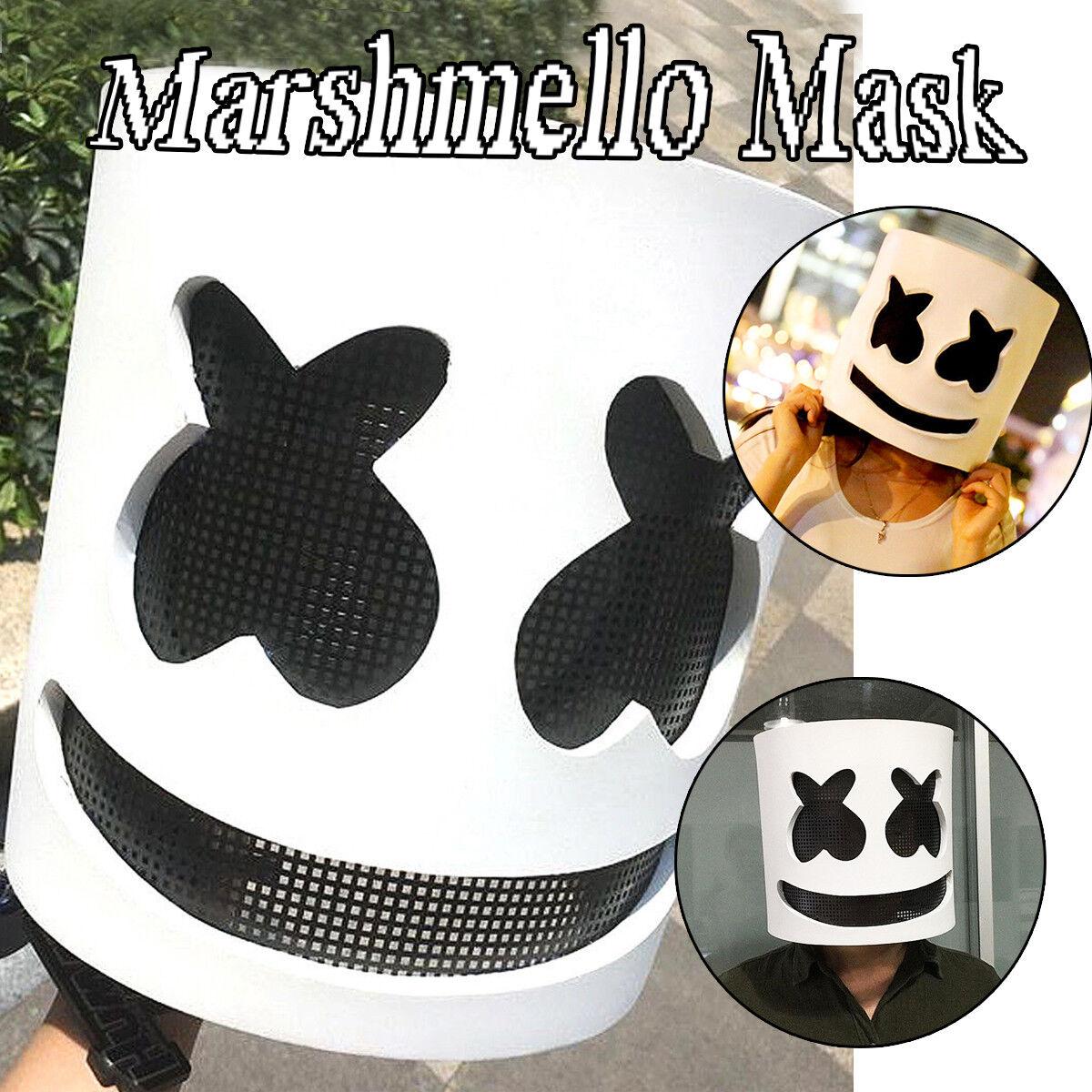 DJ Marshmello Maske Cosplay Kostüm Helm Kopf Halloween Party Props Requisiten A
