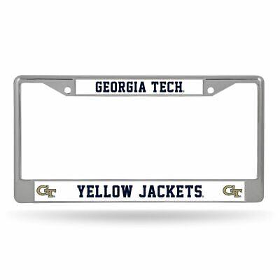 Georgia Tech Yellow Jackets NCAA Chrome Metal License Plate Frame Georgia Tech Yellow Jackets Framed