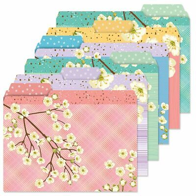 Spring Blooms Floral File Folders Set Of 24 3 Designs Documents Storage New Gift