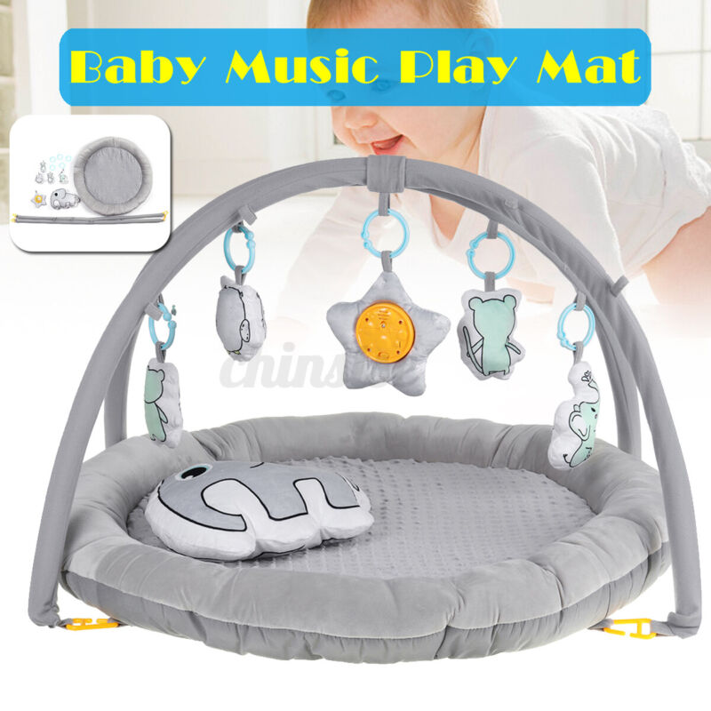3in1 Soft Baby Gym Play Mat Fitness Music Fun Piano Boy Girl Gifts Toy
