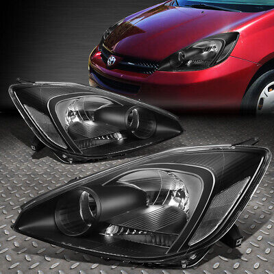 FOR 2004-2005 TOYOTA SIENNA PAIR BLACK HOUSING CLEAR CORNER HEADLIGHT/LAMP SET (Toyota Clear Corners)