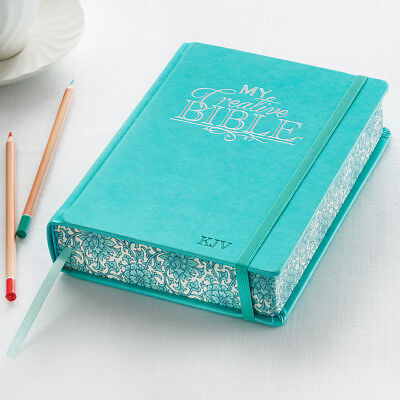 My Creative Bible KJV Aqua Hardcover Journaling Bible BRAND NEW