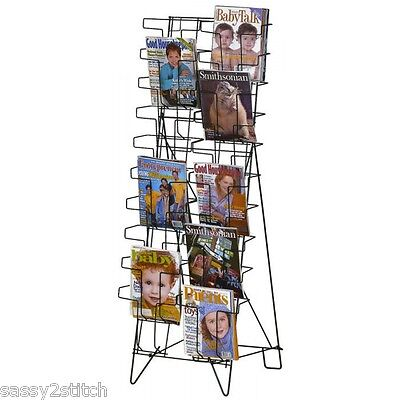 Magazineliterature Floor Easel Display Rack - 20 Pocket 8 12 X 11