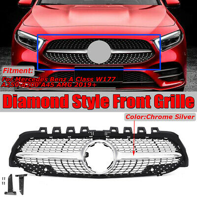 Kühlergrill Grill Diamant Stil Für Benz A-Klasse W177 A200 A250 A45 AMG