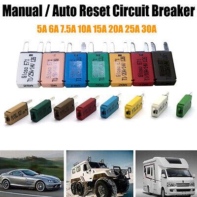 Mini Circuit Breaker (5-30A Mini ATM Circuit Breaker Blade Fuse Manul Auto Resettable Car Boat  )