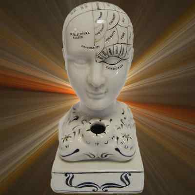 Fowlerkopf Keramik Tintenfass Porzellan Nostalg Geschenk Medizin Human Mind
