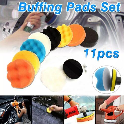 Car Buffing Pads Polishing Sponge Buffer Set Waxing Foam Polisher Kit For Drills Automotive Care & Detailing