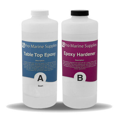 Epoxy Resin Wood (Crystal Clear Bar Table Top Epoxy Resin Coating Wood For Tabletop - 64 Oz Kit )