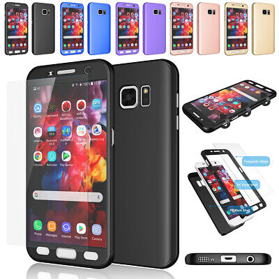 For Samsung Galaxy S7 / S7 Edge 360° Full Body Hard Case +Screen Protector Cover