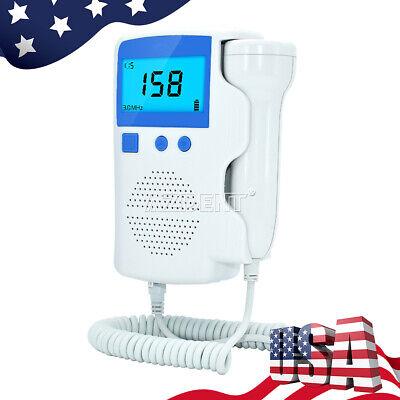 Ultrasonic Monitor Prenatal Fetal Doppler Baby Heartbeat Detector 3.0 Mhz Probe