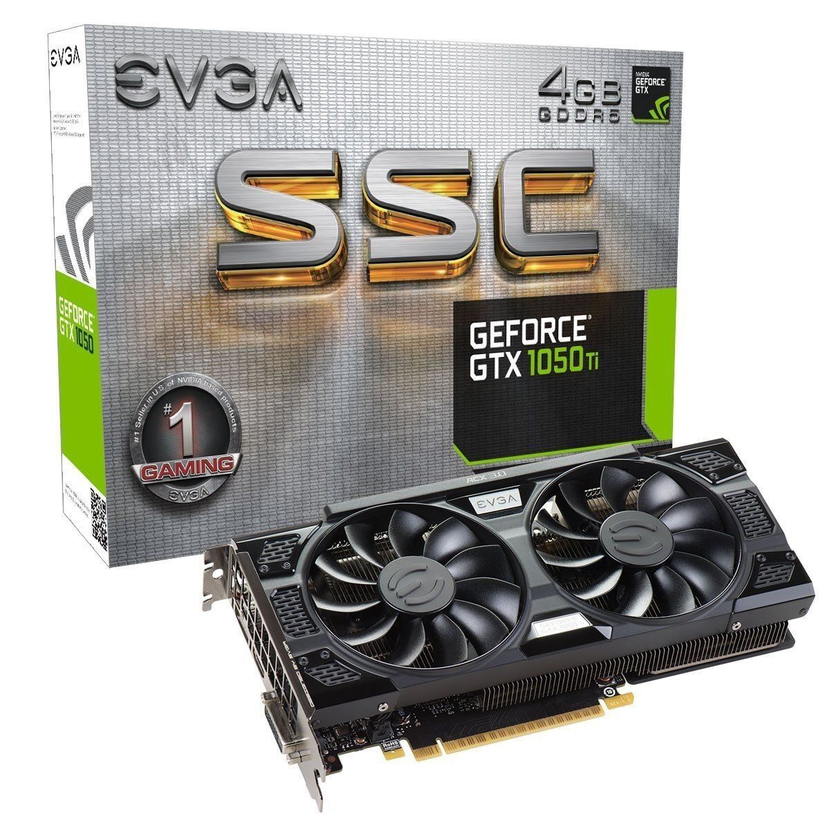 EVGA GeForce GTX 1050 Ti SSC GAMING ACX 3.0, 4GB GDDR5 DX12 Graphics Card 3