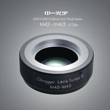 Upgraded version Lens turbo II adapter for M42 lens to M4/3(MFT) BMPCC GX GH OMD