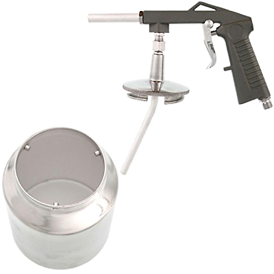 TCP Global Air Undercoating Spray Gun with Suction Feed Cup - Apply Sprayable T