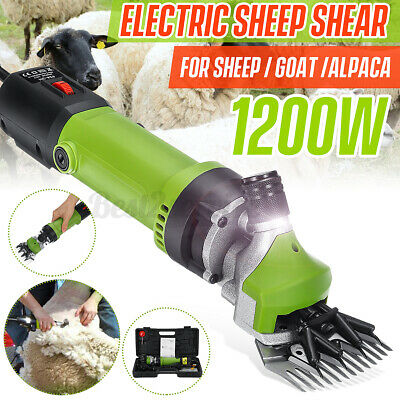 1200w Electric Supplies Sheep Goat Shears Animal Shearing Grooming Clipper Green