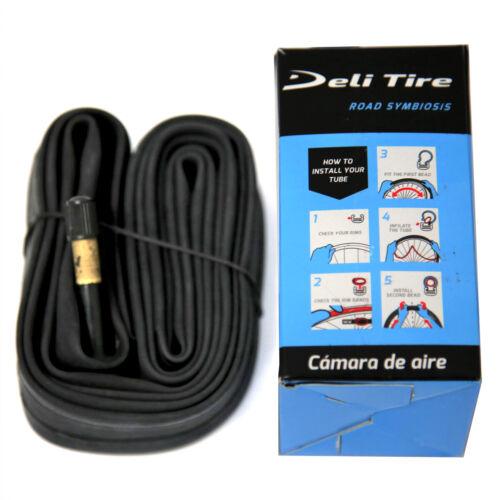"""Deli 700x32 35 40C, 28"""" x 1-3/8"""" 1-5/8"""", Schrader Valve 48 mm Bike Inner Tube"""