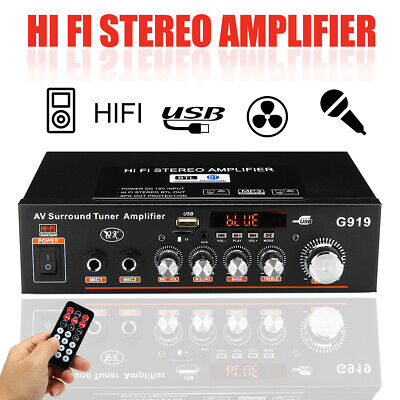 2IN1 Coche Casa 2CH Amplificador bluetooth FM SD MP3 Música HIFI Audio Estéreo