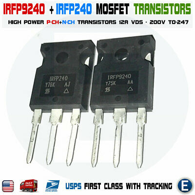 1 Pair Irfp9240 Irfp240 Mosfet Transistor 12a 200v To-247 Power Usa