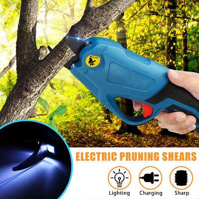Cordless Secateur Electric Branch Cutter Shears Pruner Battery Pruning Garden
