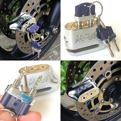 """Unpickable"" Anti-theft Dual Key Motorcycle Motorbike Scooter Disc Brake Lock"