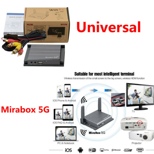 1X Wifi Mirabox 5G Home/Car Mirrorlink For iOS AirPlay Android Online Navigation