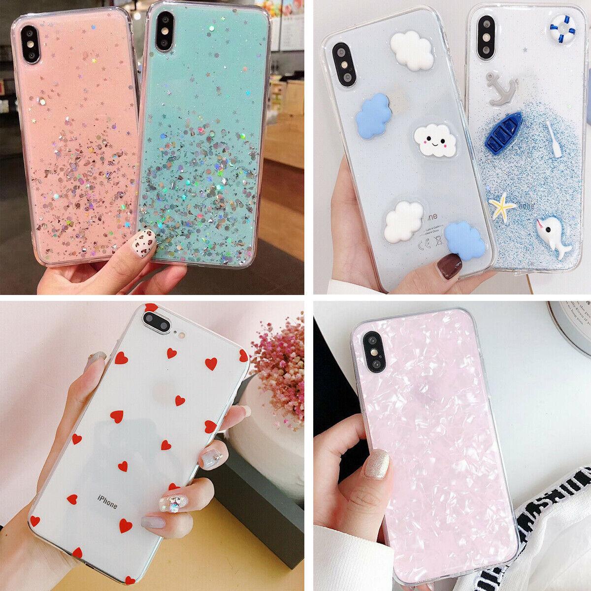 F Iphone 8 Plus 7 Plus XS Max XR Cute Clear Bumper Girls Wom