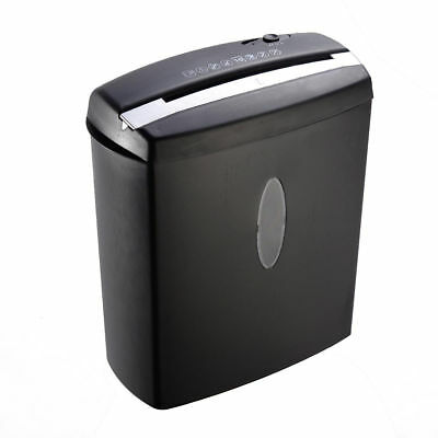 New 10 Sheet Cross-cut Papercredit Cardstaples Shredder W Basket Home Office.