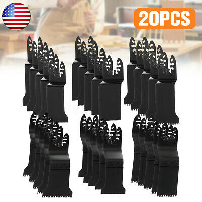 20pcs Oscillating Multi Tool Saw Wood Blade Cutter For Fein Multimaster Makita