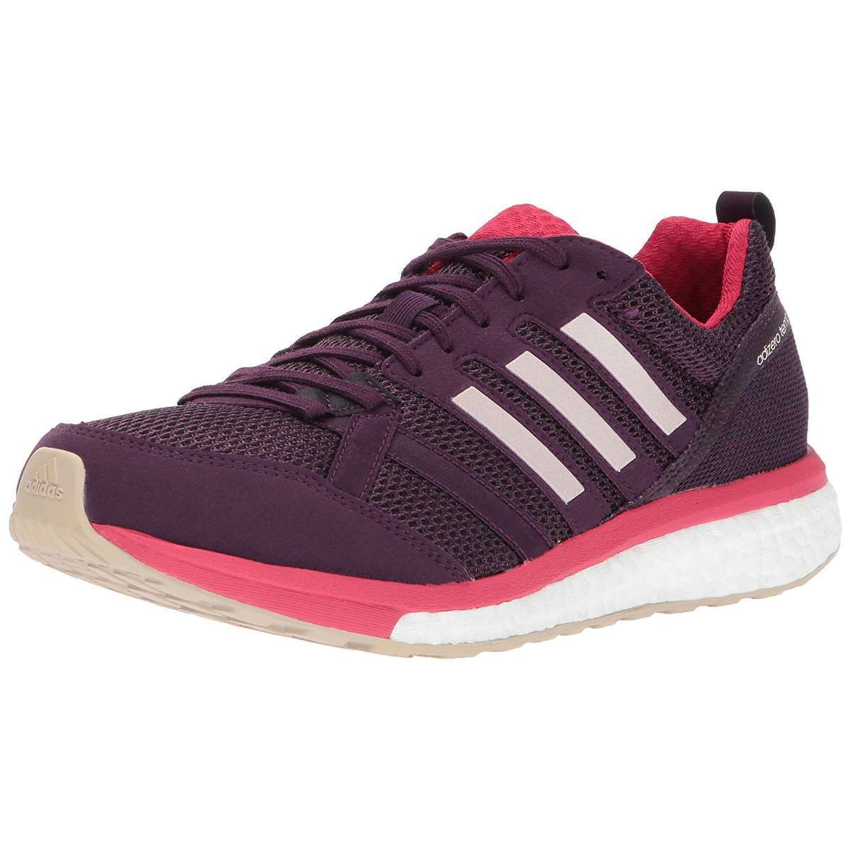 Womens ADIDAS Sneakers ADIZERO TEMPO 9 Red Night Running Shoes NEW