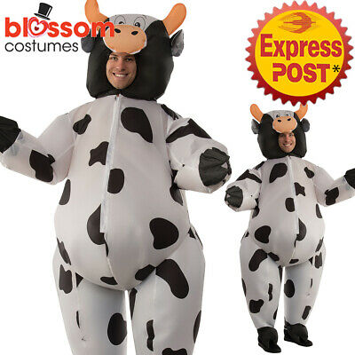 CA572 Cow Farm AnimalInflatable Unisex Adult Costume Novelty Stag Funny Blow Up - Cow Blow Up Costume