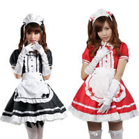 Adult Cosplay Maid Restaurant Maid Anime Dress Black And Red S-xxxl - unbranded - ebay.co.uk