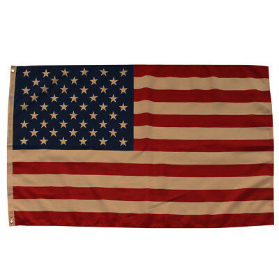 Tea Stained American Flag Grommet Flag Patriotic USA 3' x 5'