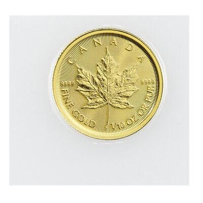 2018 Canada 1/10 oz Gold Maple Leaf $5 Coin GEM BU Mint Sealed SKU49805