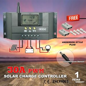 30A 12V-24V LCD DISPLAY PWM SOLAR PANELREGULATOR CHARGE CONTROLLE Hope Valley Tea Tree Gully Area Preview
