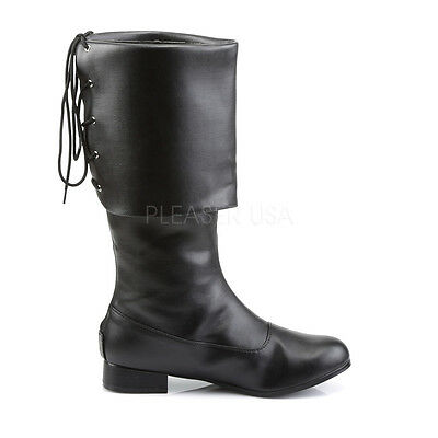Pirate Jack Sparrow Captain Hook Sailor Boots Costume Cosplay Shoes