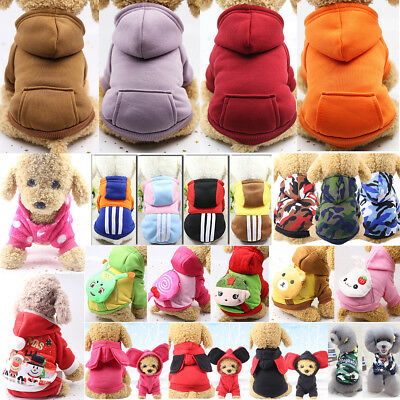 Welpe Pullover Kapuzenpullover Fell für Kleine Haustier Hund Katze Warm - Kostüm Für Haustiere