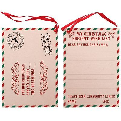 Christmas Wish List Letter to Santa Craft Paper