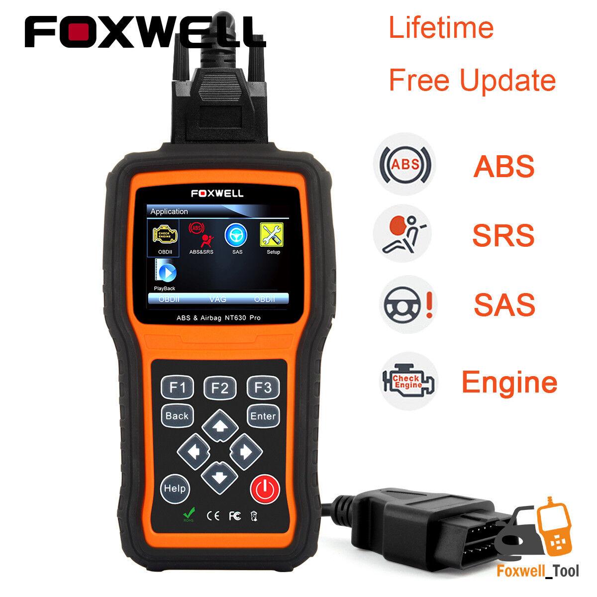 ABS Airbag SRS SAS Reset OBD2 Code Reader Diagnostic tool   Engine Check Scanner