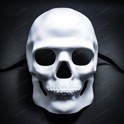 Halloween Full Face White Skull Mask For Cosplay Costume Masquerade Mask Party - Skull Face For Halloween