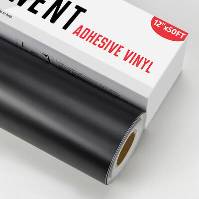 Black Permanent Self Adhesive Sign Vinyl Roll 12 X 50ft For Cricut Silhouette