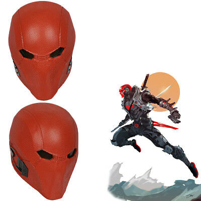 Red Hood Mask (Red Hood Cosplay Helmet Costume Props Injustice 2 Mask Halloween Party)