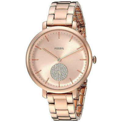Fossil Women's Watch Jacqueline Rose Gold Dial Stainless Steel Bracelet ES4438