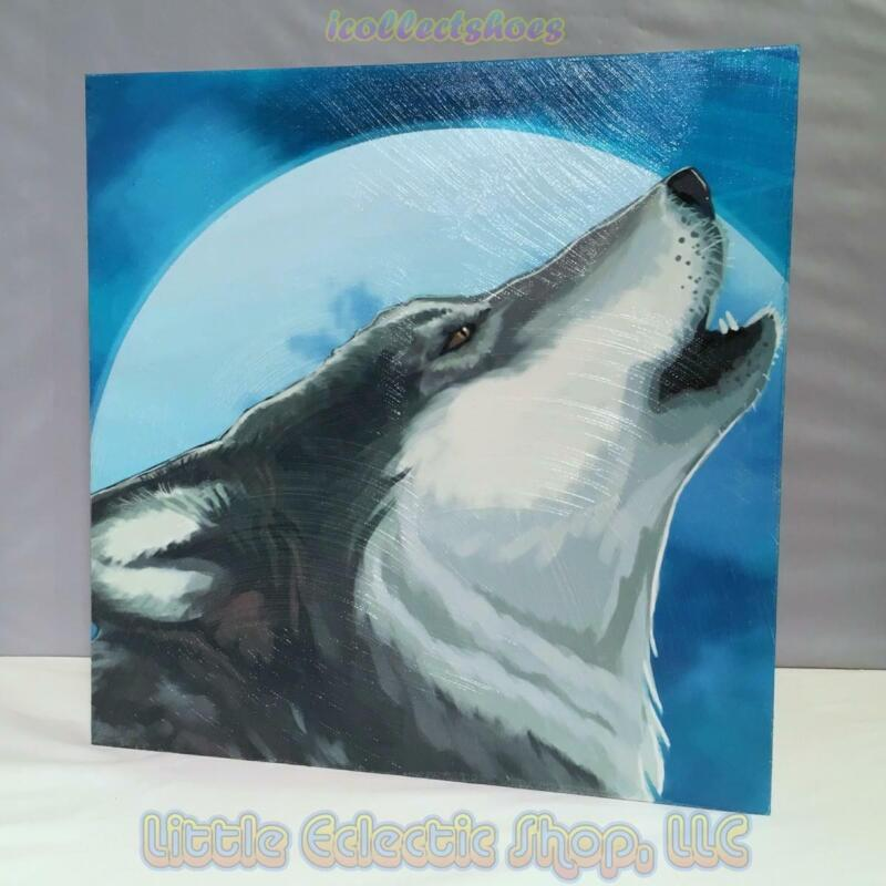 Call of the Wolf 19312 THE HOWLING 15x15 Canvas Wall Art New in Gift Box