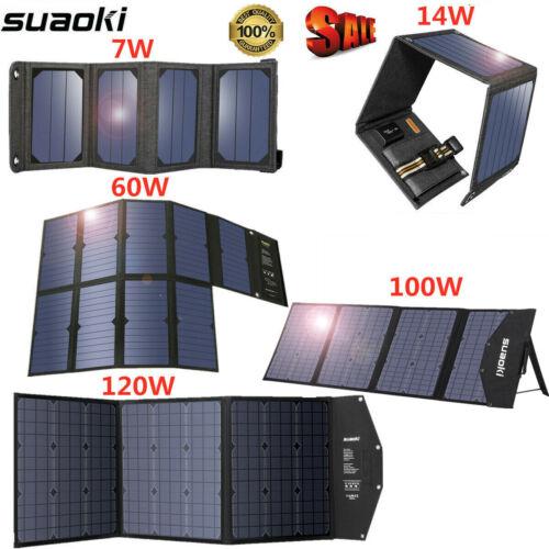 Suaoki Sunshine Power 14W/60W/100W/120W 5V/18V USB Solar Pan