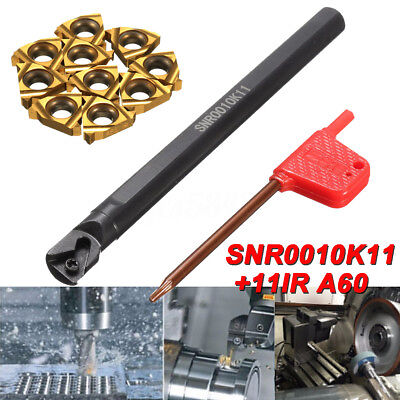 Snr0010k11 Holder Internal Lathe Threading Boring Bar Turning Tool W10x Inserts