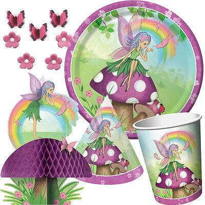 ags Party Auswahl - Mädchen Regenbogen Geschirr Ballons & (Regenbogen Fee Prinzessin Kostüm)
