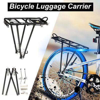 Heavy Duty Bike Bicycle Pannier Rear Rack Carrier Bracket Luggage Max Load 25kg