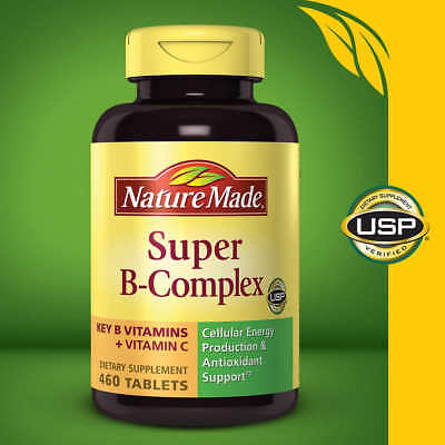 - Nature Made Super B-Complex 460 Tablets with Vitamin C and Folic Acid, 06/2020