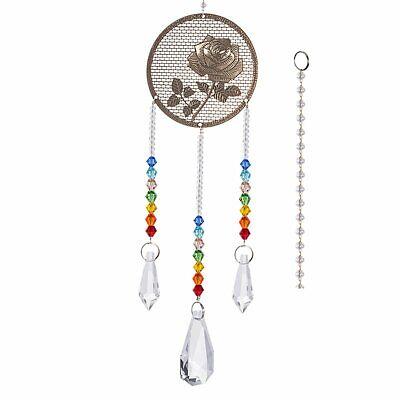 Crystal Prism Suncatcher Ornament Rainbow Drops Pendants Window Decor - Crystal Suncatchers